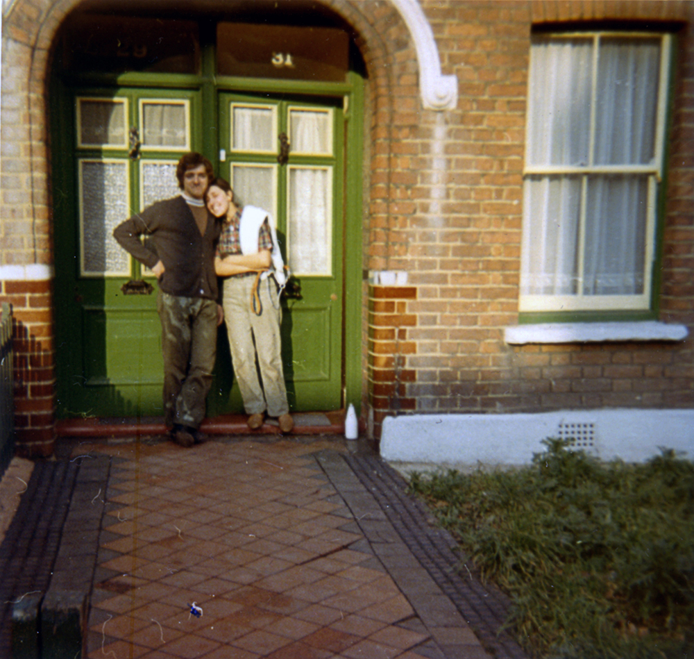 Bob and Sylvia, Warner Road, 1971 Courtesy of Bob and Sylvia Agass