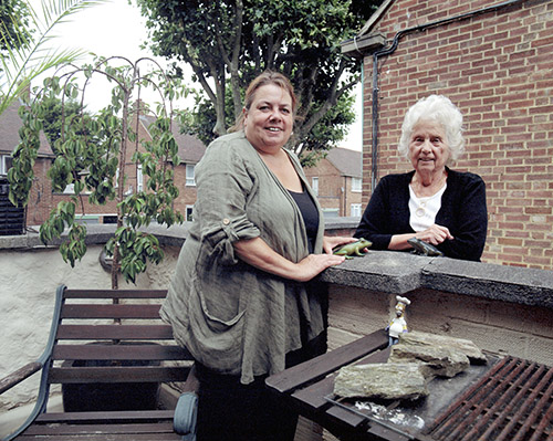 Neighbours Sue & Barbara, Cornwallis Road, 2016, by Katherine Green