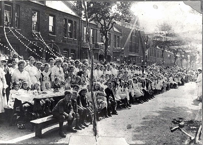 Courtenay Road, WW1 Street Party, courtesy of Vestry House Museum